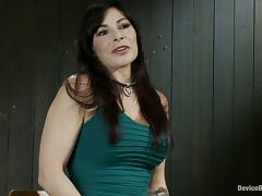 Extreme Bondage and Clothespins Torture for Brunette Chick