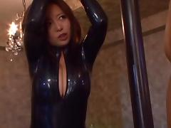 Kaori In A Tight Outfit Tied Up And Fucked With A Vibrator