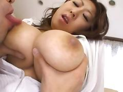 Big Tits On MILF Suzuka Arinaga Satisfy Two Guy's Hunger