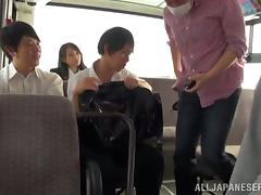 Beautiful Claire Hasumi gets fucked nice in a bus