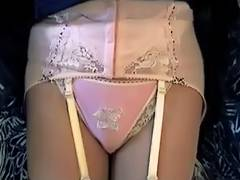 Pink Girdle Nylon Pants porn video