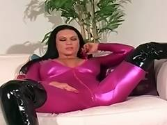 ashleig embers spandex and dark haunch boots