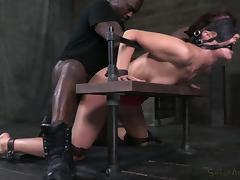 Bondage, BDSM, Blindfolded, Bondage, Brunette, Interracial