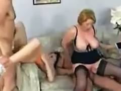 Dirty German sluts in gangbang porn
