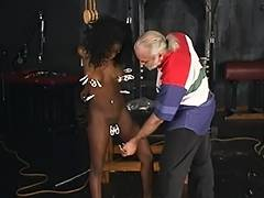 Bitch acquires punished with clamps around her bawdy cleft and clitoris