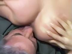 Chick receives her cum hole licked