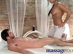 Massage Rooms Sinless juvenile masseuse slips down his pole