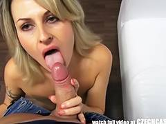 Czech Non Professional mother I'd like to fuck Acquires Load to Face Hole