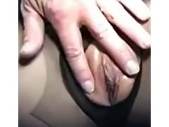 Dark Hose Golden Haired Sex Tease