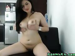 Pretty Brunette Webcam Tease On Xca