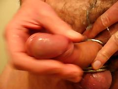 Using cum as a lubricant!