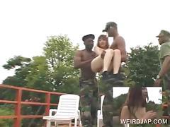 Asian teen gets a big dic