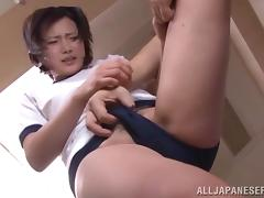 Pussy plays with a desirable Japanese siren Shiori Tachiba