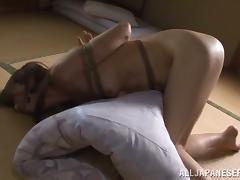 Reiko Sawamura gets tied up and whipped and enjoys it a lot