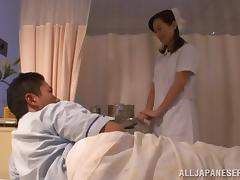 Japanese nurse gets fucked from behind in a hospital ward