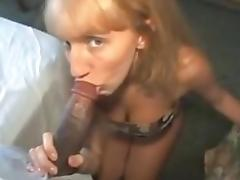 Hot Redhead Acquires Filthy BBC Facial