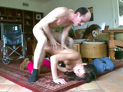 Old and Young, Babe, Blowjob, Brunette, Cute, Hardcore