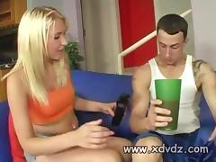 Blonde Teen Katie Summers Gets Caught By Her Boyfriend Waking Up As She Plays With His Long Dick