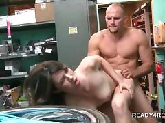 Teen naked amateur gets a monster dick shoved in pussy