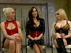 BDSM Lesbian Gangbang with Fisting and Strapon Fucking