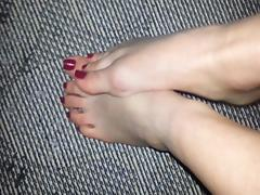 Lovely Wife feet tease