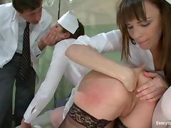 Hot threesome sex with two smoking hot nurses
