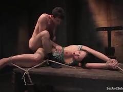 Nice Alexa Von Tess gets fucked hard in bondage video