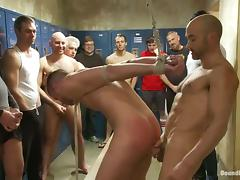 Matthew Singer gets fucked by many gays in the locker room