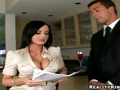 Adorable office chick gets ass fucked by her colleague