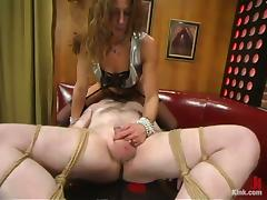 Kym Wilde Torturing a Tiny Cock and Balls Face Sitting a Tied Up Guy porn video