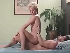 Blonde mature loves anal sex