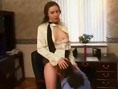 Russian Secretary fucked in Office