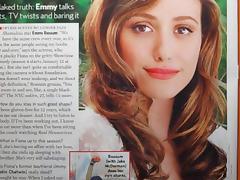 Emmy Rossum Cum Tribute Bukkake No. 1