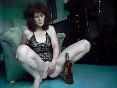 Bottle, Amateur, Bottle, Mature, Old, Redhead