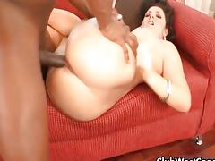 Black guy fucking white girl