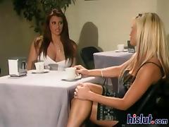 Lesbian Swingers, Blonde, Friend, Group, Lesbian, Lick