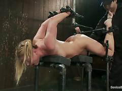 Rough Bondage and Toying Action for Busty Sexy Aurora Snow