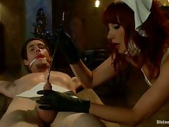 Naughty Vixen Maitresse Madeline Playing with Submissive Guy