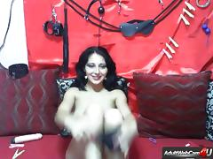 Slave Doll Masturbating with a sex toy on webcam