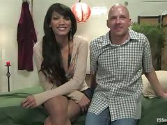Chad Rock gets his ass fucked every which way by tranny Yasmin Lee
