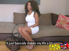 FakeAgentUK: Inexperienced ebony amateur gets duped into fake sex casting