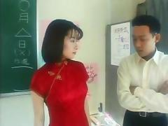 Asian slave teacher gets kinky lesson from a hard dick