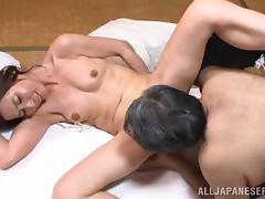 Mika Matsushit the mature Japanese gets fucked by old dude