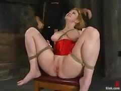 Big breasted Darling gets bounded and face fucked
