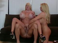 Big Busty Threesome Fuck