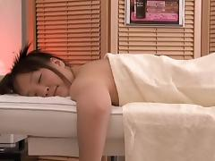 Tai receives a cock in her bun in voyeur massage sex video