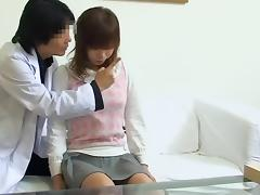 Medical examination ends up with japanese cunt fucked hard porn video