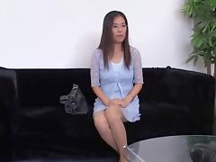 Nerdy Jap with glasses fucked in a voyeur Asian sex video porn video