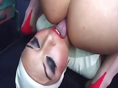 British slut Keira in a kinky FFM threesome