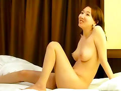Skinny Asian fuck in the bedroom so sexy
